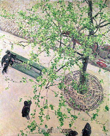 Boulevard seen from Above, 1880 | Caillebotte| Gemälde Reproduktion