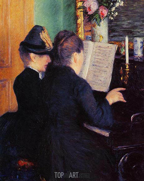 The Piano Lesson, 1881 | Caillebotte | Gemälde Reproduktion