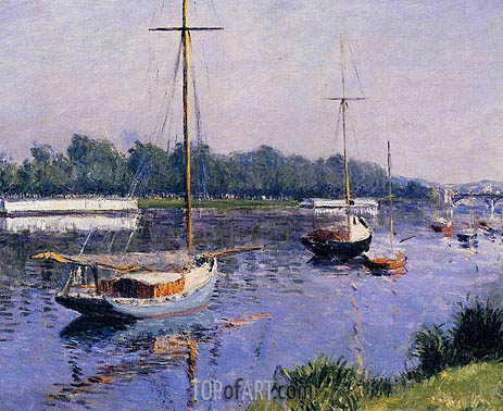 Caillebotte | The Basin at Argenteuil, c.1882