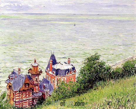 Villas at Trouville, 1884 | Caillebotte | Painting Reproduction