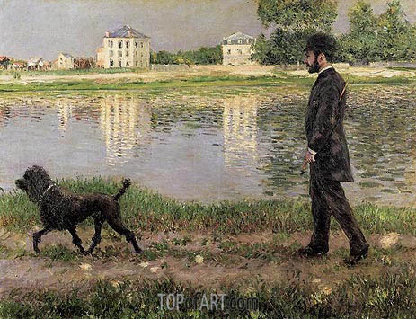 Caillebotte | Richard Gallo and His Dog, at Petit Gennevilliers, 1884