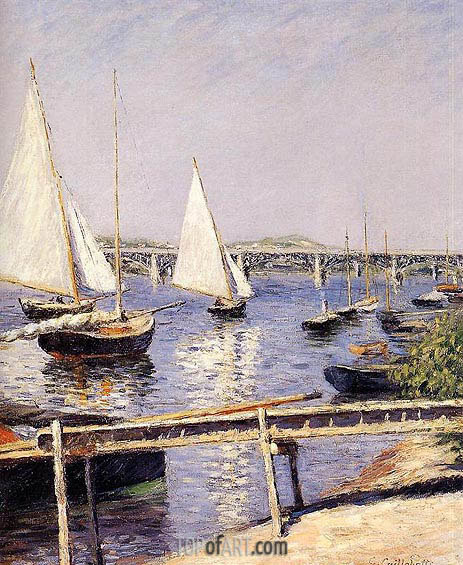 Sailing Boats at Argenteuil, c.1885/90 | Caillebotte | Painting Reproduction