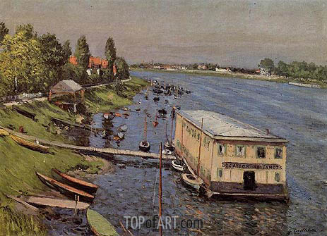Boathouse in Argenteuil, c.1886/87 | Caillebotte | Painting Reproduction