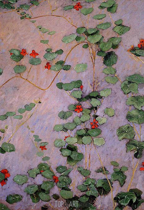 Nasturtiums, 1892 | Caillebotte | Painting Reproduction
