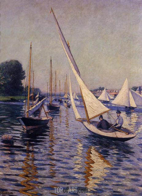 Regatta at Argenteuil, 1893 | Caillebotte | Painting Reproduction