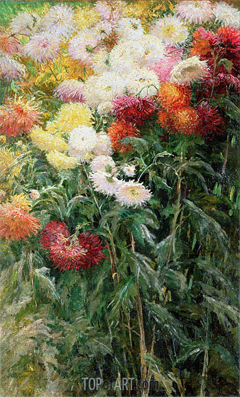 Clump of Chrysanthemums, Garden at Petit Gennevilliers, 1893 | Caillebotte | Gemälde Reproduktion