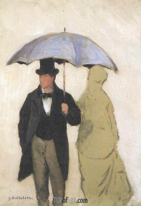 Caillebotte | Study of a Couple uner an Umbrella, 1877