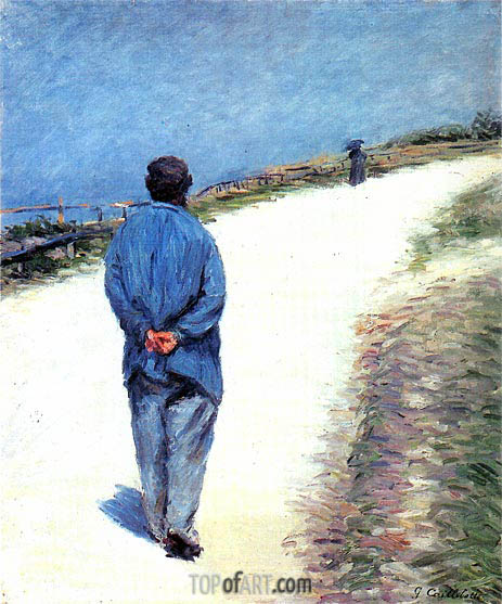 Man in a Smock, 1884 | Caillebotte | Painting Reproduction