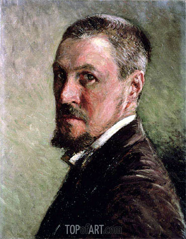 Self Portrait, undated | Caillebotte | Painting Reproduction