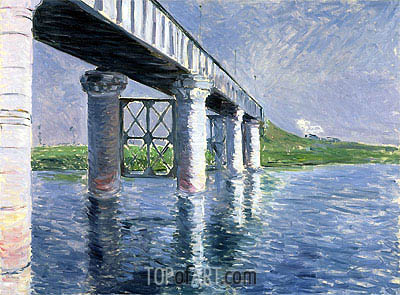The Bridge at Argenteuil, c.1885/87 | Caillebotte| Painting Reproduction
