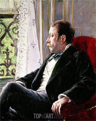 Portrait of a Man, 1880 | Caillebotte | Painting Reproduction