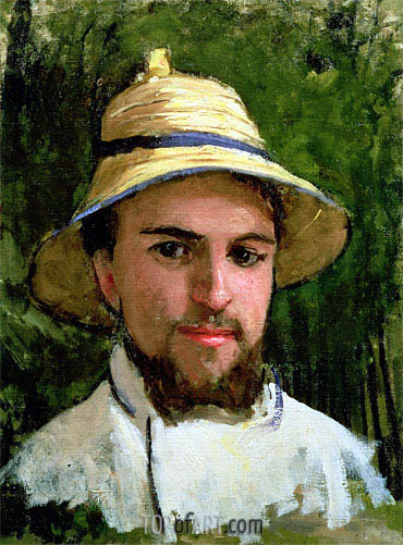 Self Portrait with Pith Helmet, undated | Caillebotte| Painting Reproduction