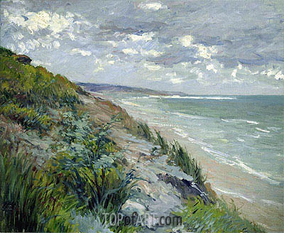 Cliffs by the Sea at Trouville, undated | Caillebotte| Gemälde Reproduktion