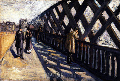 Study for Le Pont de l'Europe, 1876 | Caillebotte| Painting Reproduction