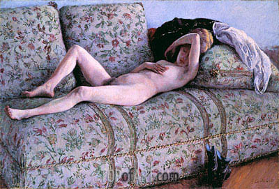 Nude on a Couch, 1890 | Caillebotte | Painting Reproduction
