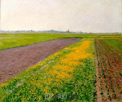 The Flatness of Gennevilliers, 1884 | Caillebotte | Gemälde Reproduktion