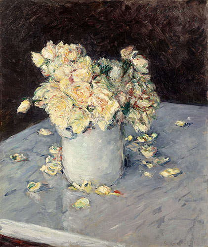 Caillebotte | Yellow Roses in a Vase, 1882