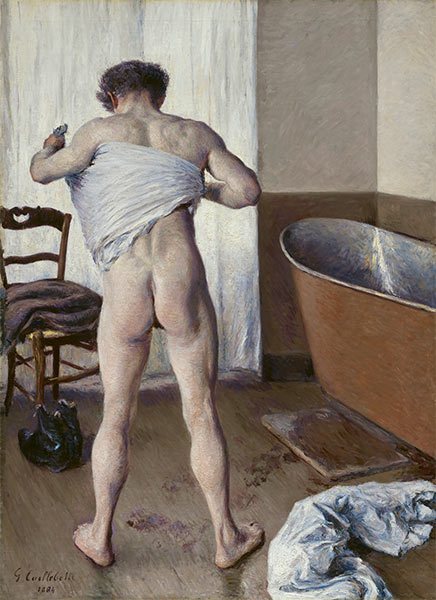 Man at his Bath, 1884 | Caillebotte | Painting Reproduction