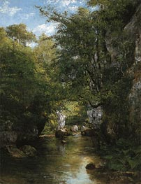 The Water Stream, La Breme, 1866 von Courbet | Gemälde-Reproduktion