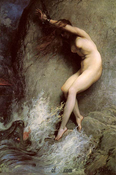 Andromeda, 1869 | Gustave Dore | Painting Reproduction