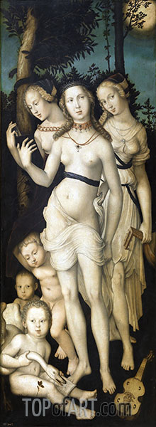 Harmony (The Three Graces), c.1541/44 | Hans Baldung Grien | Painting Reproduction