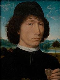 Portrait of a Man with a Roman Coin, c.1480 von Hans Memling | Gemälde-Reproduktion