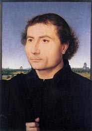 Portrait of a Man, c.1470 by Hans Memling | Painting Reproduction