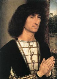 Young Man at Prayer | Hans Memling | outdated