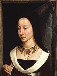 Maria Portinari (Maria Maddalena Baroncelli, c.1470 von Hans Memling | Gemälde-Reproduktion