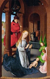 Nativity, c.1470/72 by Hans Memling | Painting Reproduction