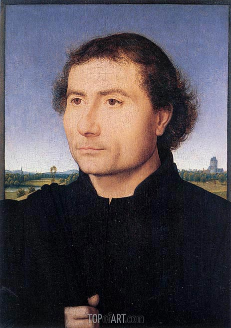 Portrait of a Man, c.1470 | Hans Memling | Painting Reproduction