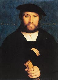 Portrait of a Member of the Wedigh Family, 1533 von Hans Holbein | Gemälde-Reproduktion