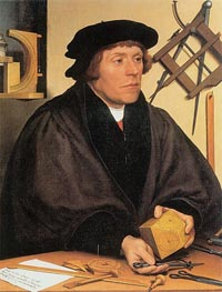 Portrait of Nikolaus Kratzer, 1528 by Hans Holbein | Painting Reproduction