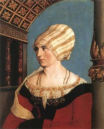 Portrait of Dorothea Meyer, nee Kannengiesser, 1516 by Hans Holbein | Painting Reproduction