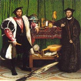 Jean de Dinteville, Georges de Selve (Ambassadors), 1533 by Hans Holbein | Painting Reproduction