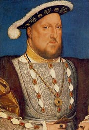 Portrait of Henry VIII, c.1536/37 by Hans Holbein | Painting Reproduction