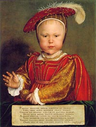 Portrait of Edward, Prince of Wales, c.1539 by Hans Holbein | Painting Reproduction