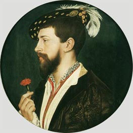 Portrait of Simon George, c.1536/37 by Hans Holbein | Painting Reproduction