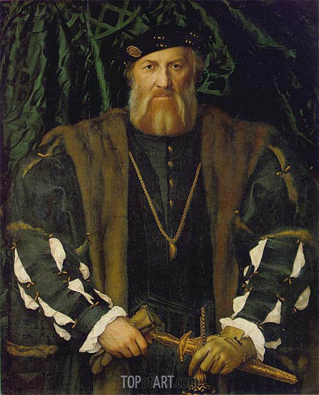 Portrait of Charles de Solier, Lord of Morette, c.1534/35 | Hans Holbein | Painting Reproduction