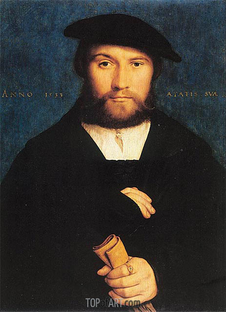 Portrait of a Member of the Wedigh Family, 1533 | Hans Holbein | Gemälde Reproduktion