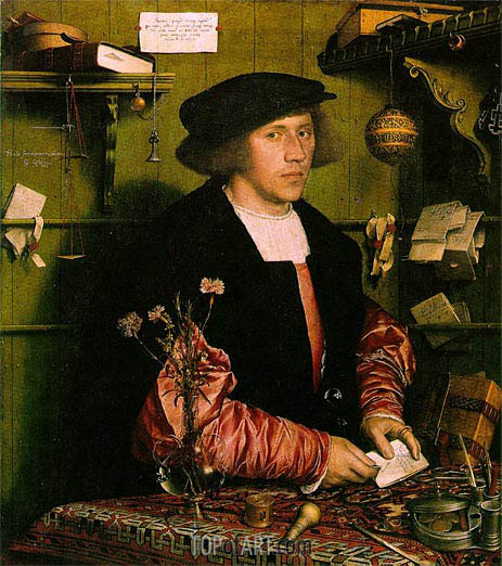 Portrait of the Merchant Georg Gisze, 1532 | Hans Holbein | Painting Reproduction