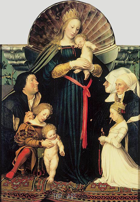 Darmstadt Madonna, c.1526/28 | Hans Holbein | Painting Reproduction