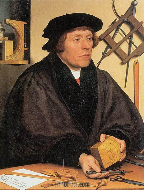 Portrait of Nikolaus Kratzer, 1528 | Hans Holbein | Painting Reproduction