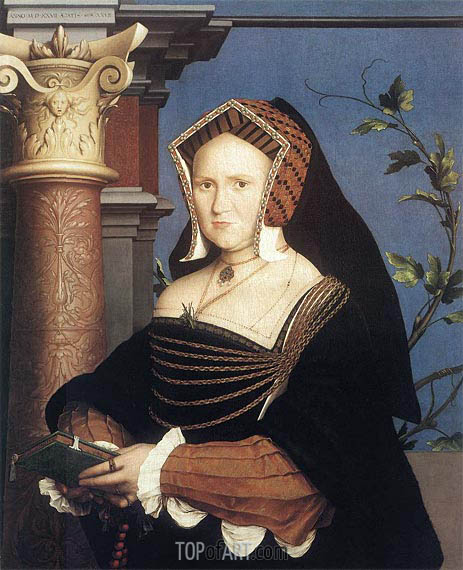 Portrait of Lady Mary Guildford, 1527 | Hans Holbein | Painting Reproduction