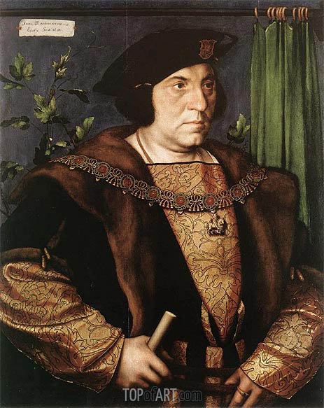 Portrait of Sir Henry Guildford, 1527 | Hans Holbein | Gemälde Reproduktion