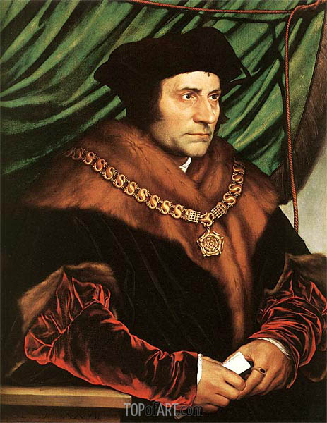 Portrait of Sir Thomas More, 1527 | Hans Holbein | Gemälde Reproduktion