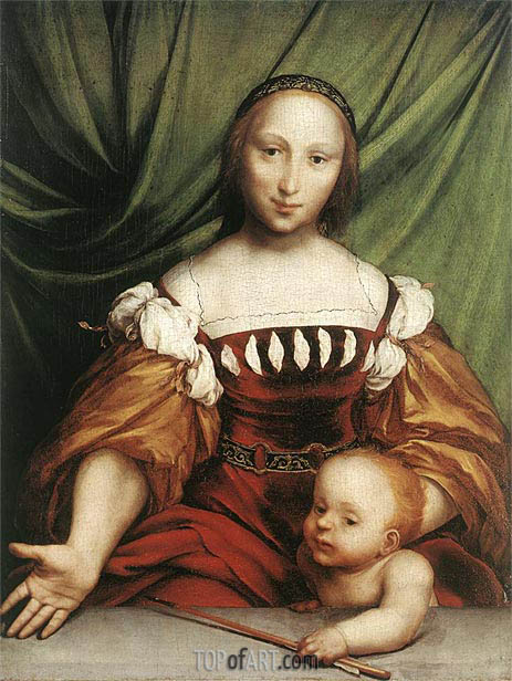 Venus and Amor, c.1524/25 | Hans Holbein | Painting Reproduction