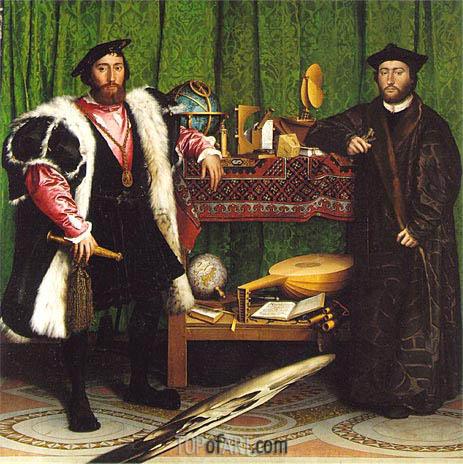 Hans Holbein | Jean de Dinteville, Georges de Selve (Ambassadors), 1533