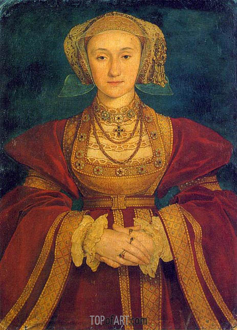 Portrait of Anne of Cleves, c.1539 | Hans Holbein | Painting Reproduction