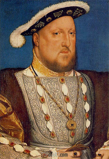 Portrait of Henry VIII, c.1536/37 | Hans Holbein | Painting Reproduction